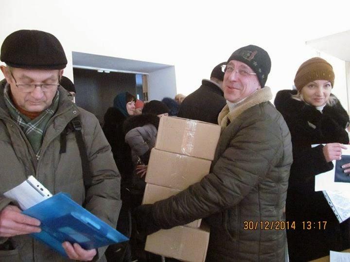 Фотоотчет по выдаче гуманитарной помощи
