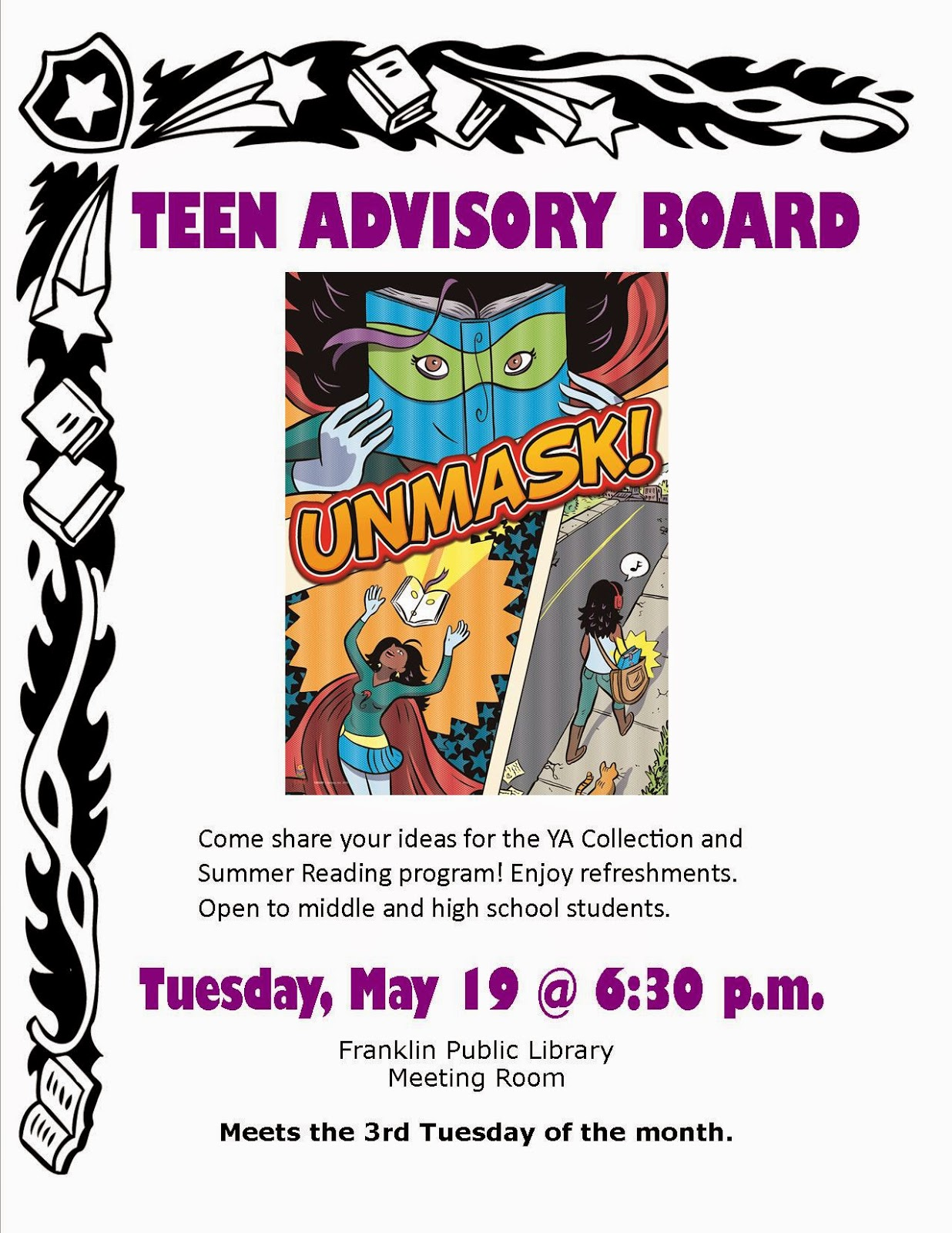 Library teen advisory board