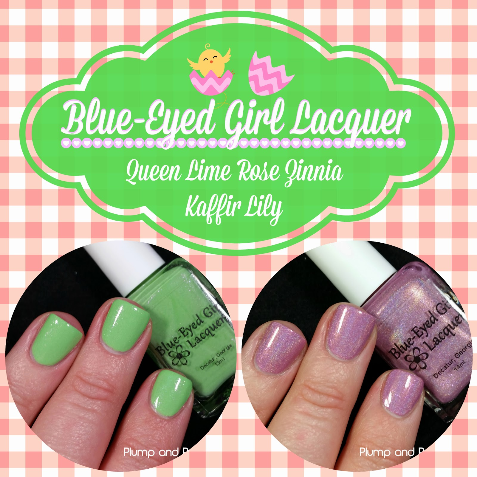 Blue-Eyed Girl Lacquer - Queen Lime Rose Zinnia & Kaffir Lily