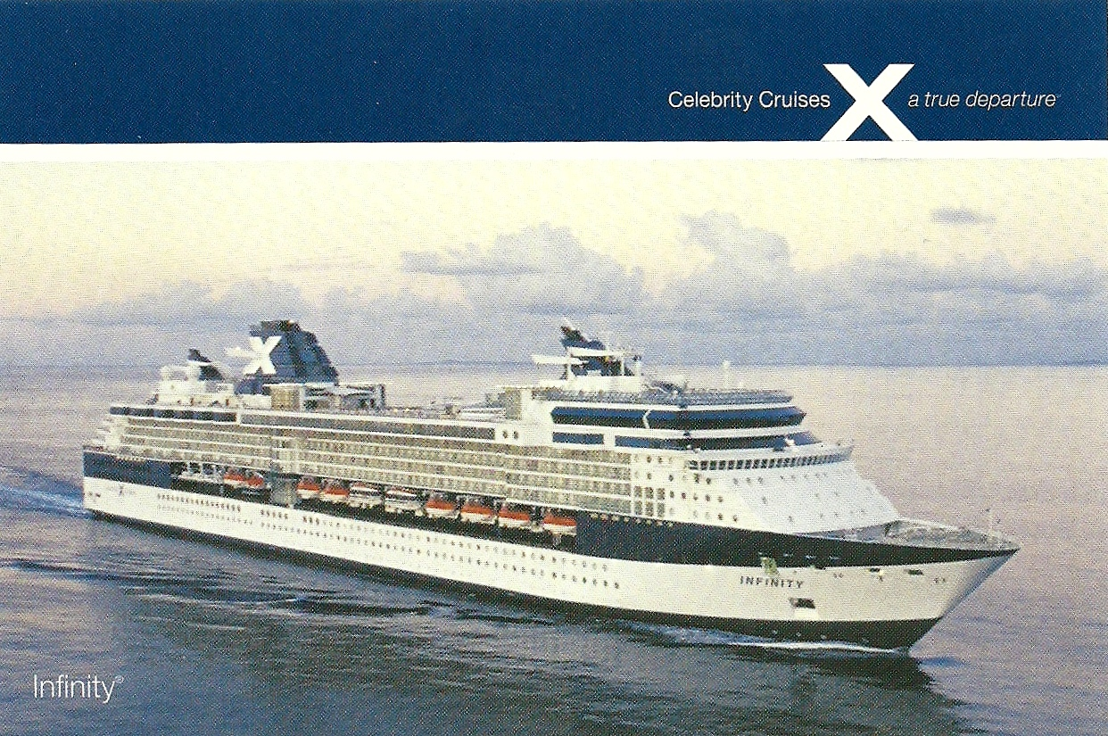 Celebrity cruises infinity ship official postcard sl03 122401 26 02