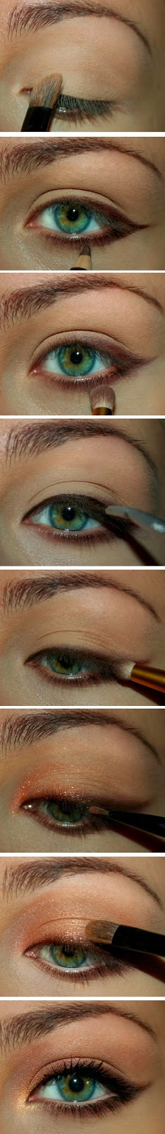 Brown And Gold Cat Eye Makeup Tuts Motivational Trends