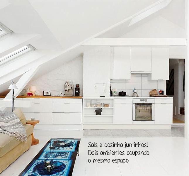 decoraçao-pequenos espaços-loft-cozinha