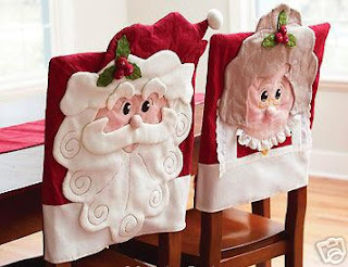Duti duti capa de cadeira para o natal tamb m com pap for Decoracion navidena artesanal