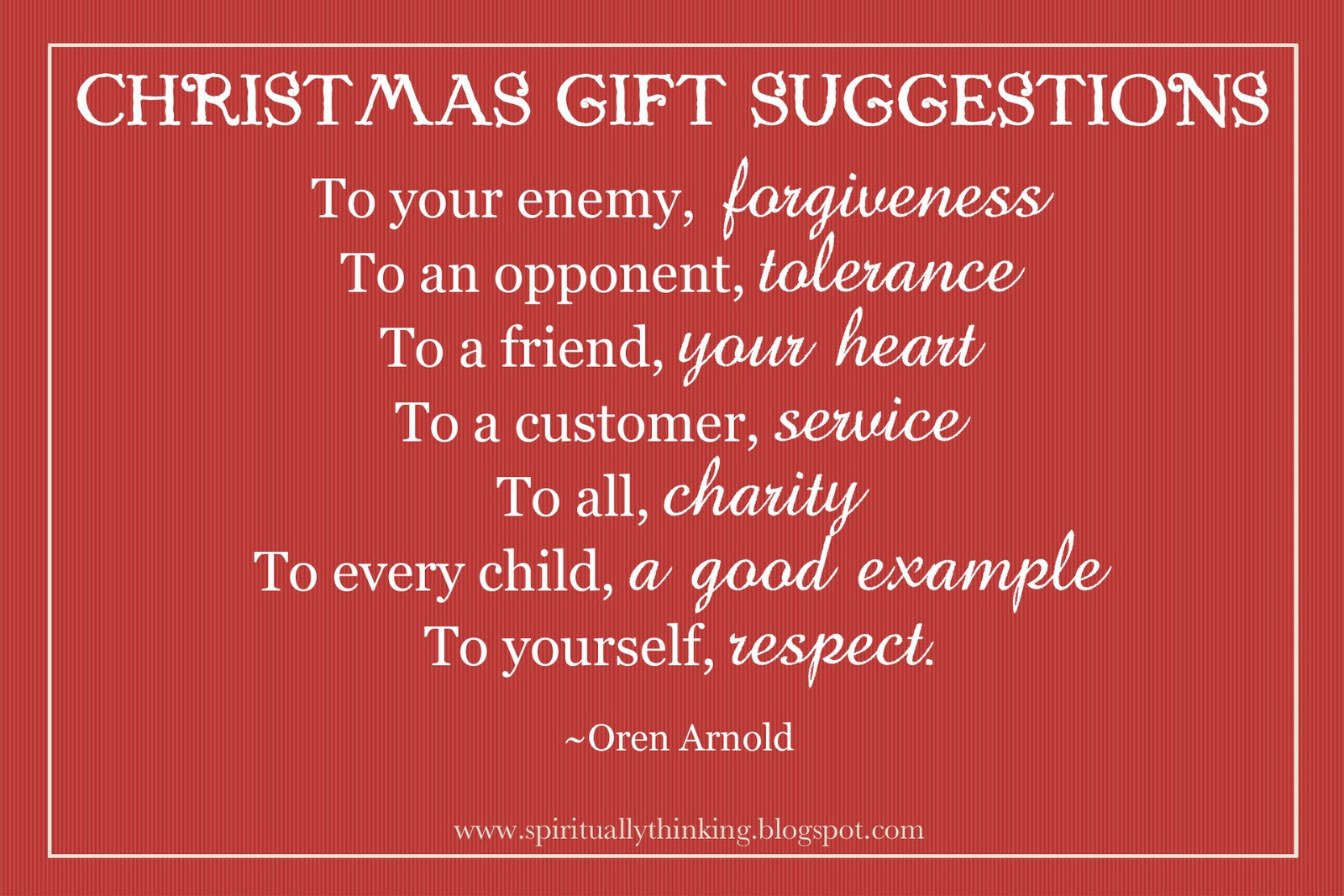 Christmas Toys Quotes : And spiritually speaking christmas gift suggestions