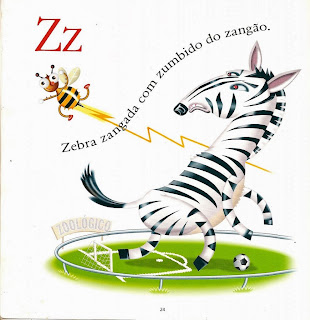 Zebra zangada com zumbido do zangão