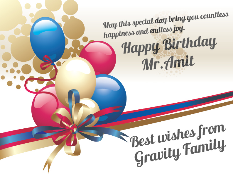 Happy Birth Day Amit Auto Design Tech