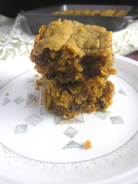 Healthy Peanut Butter and Raisin Oatmeal Bars