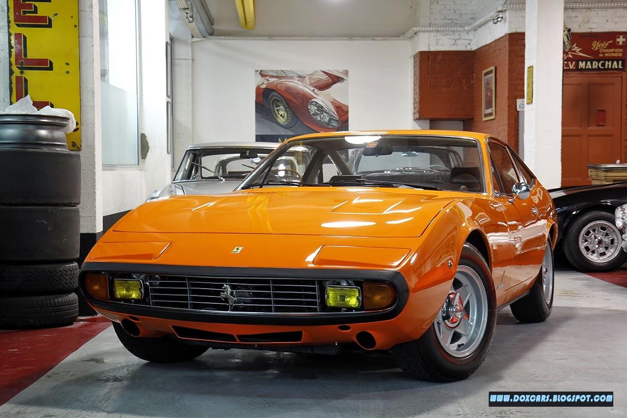 صور سيارات: فيراري 365 جي تي سي 4 البرتقالية