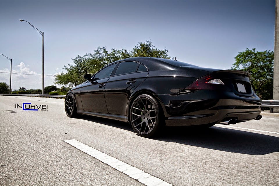 Mercedes benz cls55 amg on incurve wheels ic m7 benztuning for Black mercedes benz rims