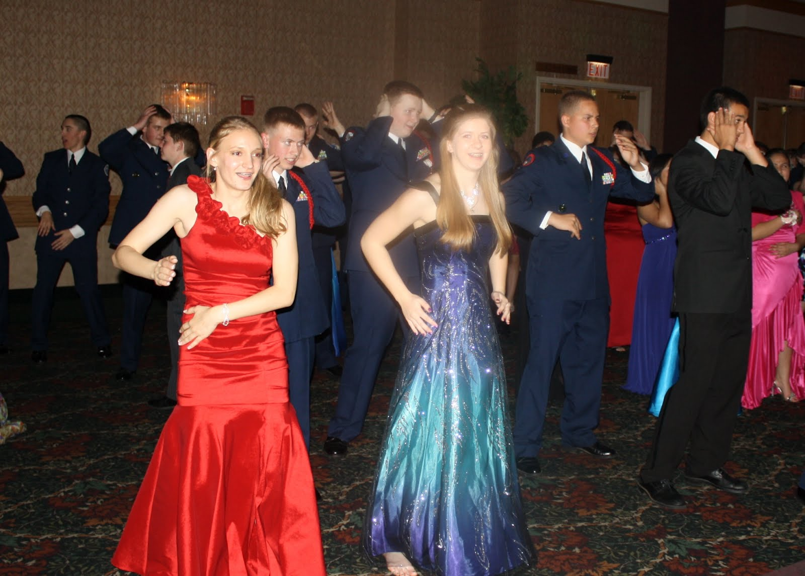 High School Military Ball Dresses Red