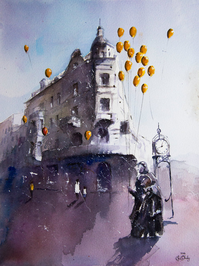 19-The-dreams-seller-from-Torun-Grzegorz-Chudy-sanderus-Dreams-Started-with-Watercolor-Paintings-www-designstack-co