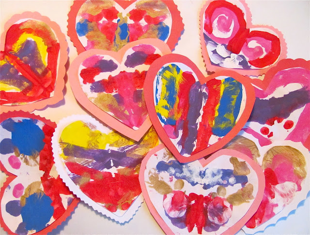 blotto blotter valentines day craft hand painting hearts