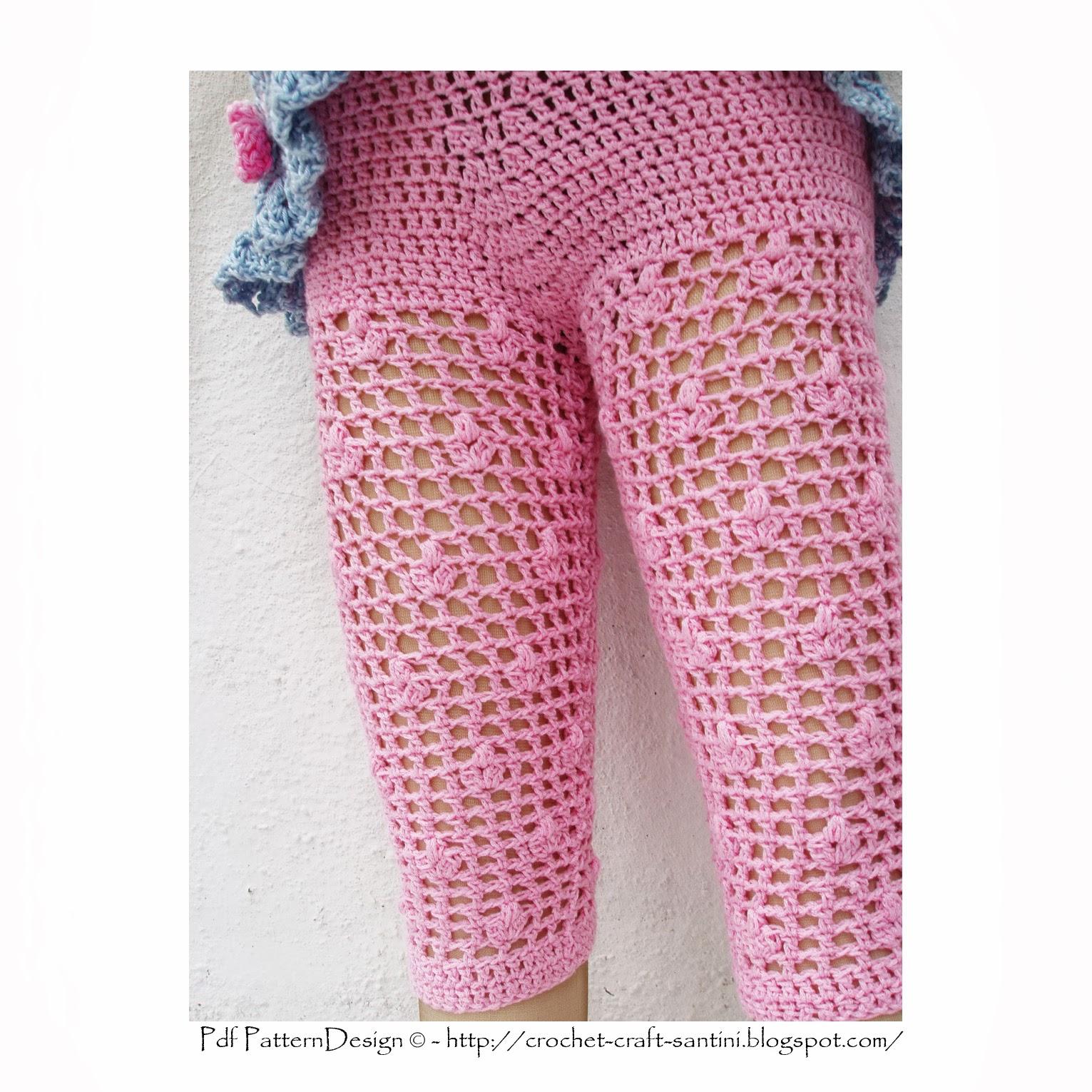 Summer Pink Flower Leggings For Fancy Little Girls