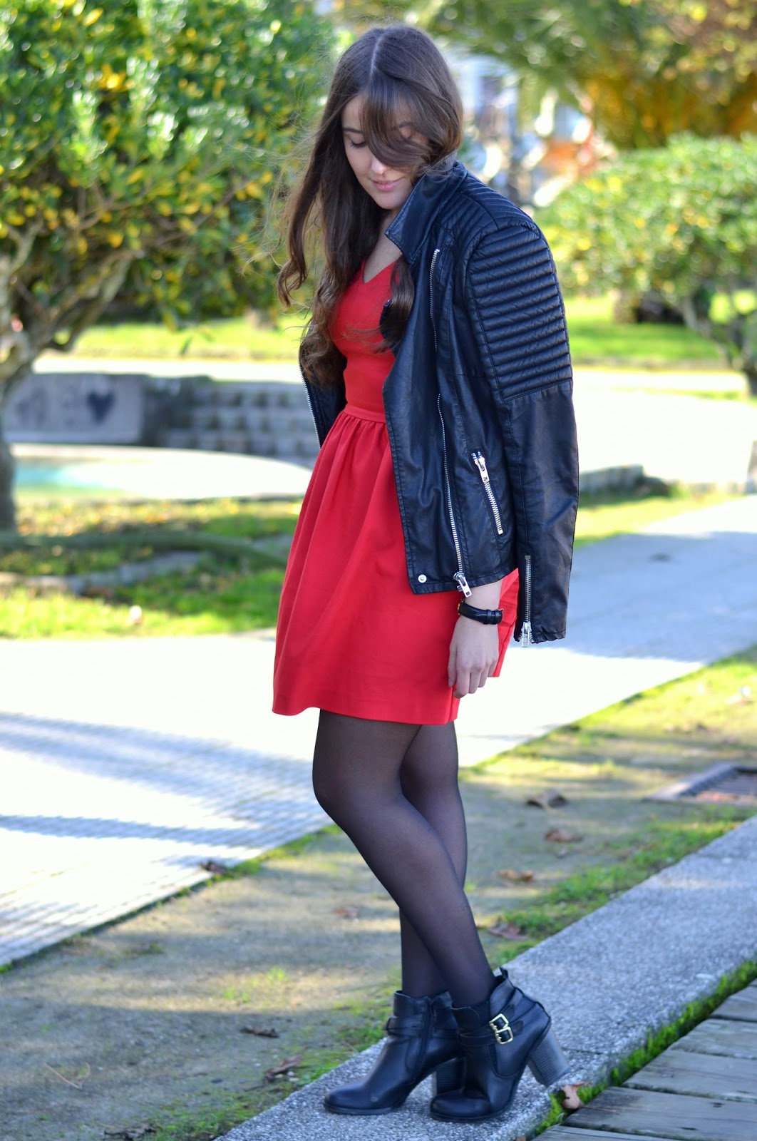 ankle boots, biker, dress