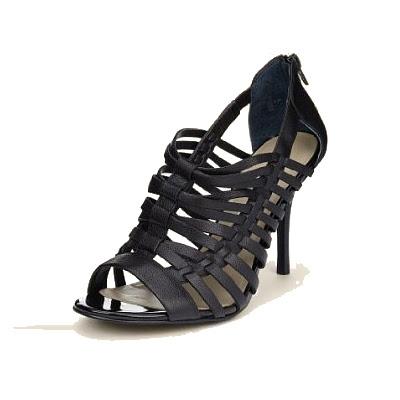 Fekete magassarkú szandál - Marks & Spencer Autograph női cipő 2012 nyár