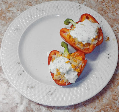 Stuffed pepper with coconut rice