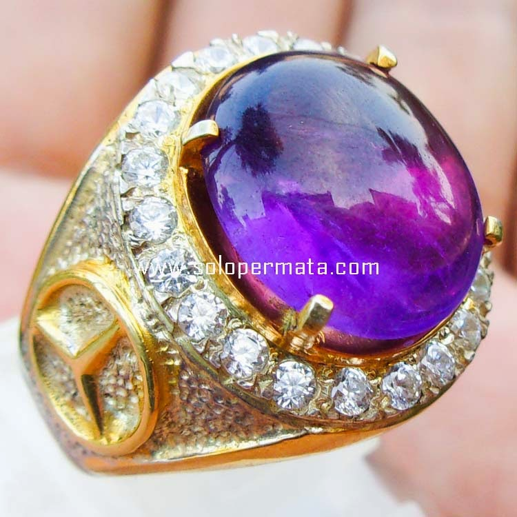 Batu Kecubung Ungu Kalimantan Super - sp096|Garansi ...