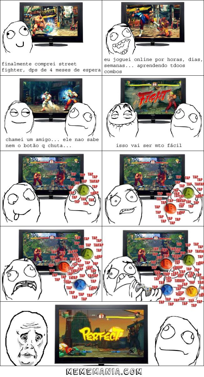 Jogando Street Fighter Com O Novato