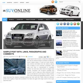 SuvOnline blog template. magazine blogger template style. magazine style template blogspot. free blogspot template
