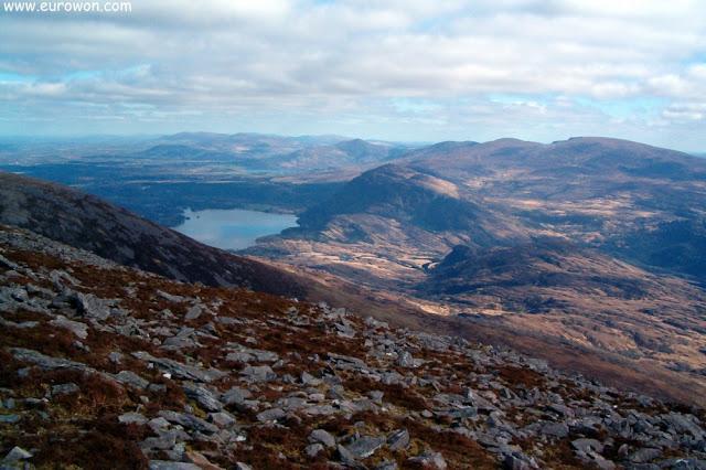 Vista desde la montaña Stoompa en Killarney