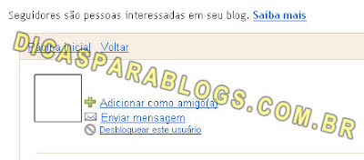 desbloquear seguidores do blog