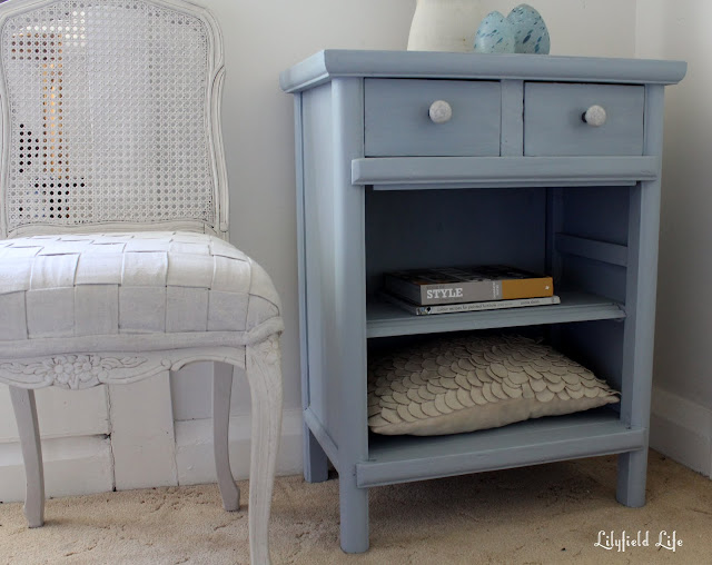 Lilyfield Life Chalk Paint Transformation Blue Cabinet