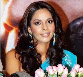 Malika Sheawat in Blue Saree hot photos