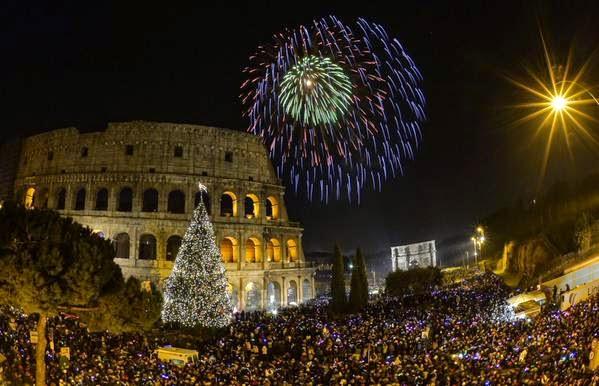 Baños Romanos Beirut:Celebraciones del 1 de enero en el Coliseo romano