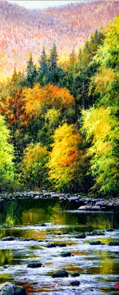 cuadros modernos pinturas y dibujos paisajes verticales