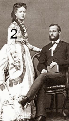 Infante Isabel d'Espagne et prince Gaetano de Bourbon-Siciles