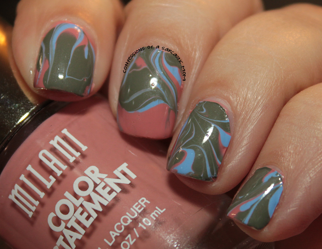 Plastic Bag Marble Nail Art With Milani Polishes Confessions Of A