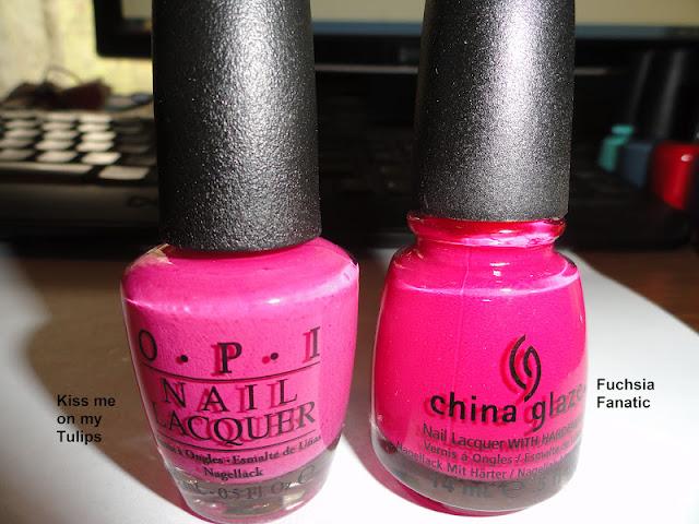 Fuschia vs hot pink
