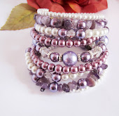 Amethyst Pearl Stacked Bracelet