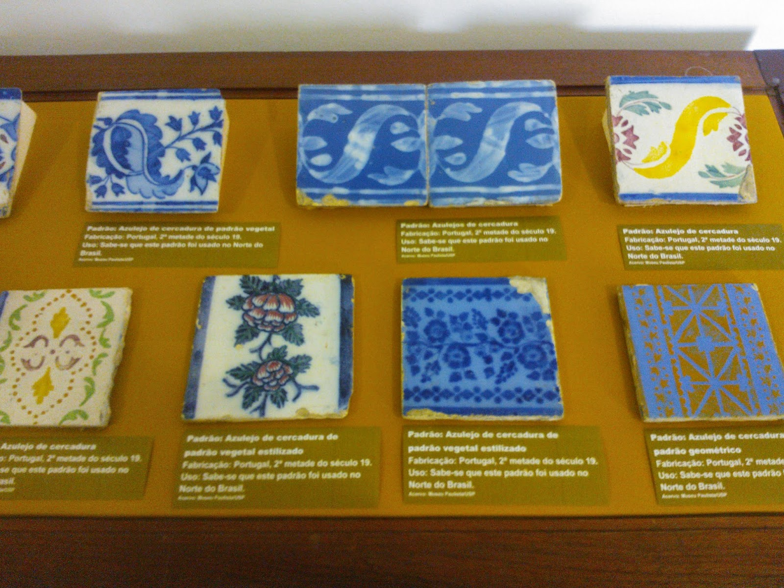 Azulejos portugueses no acervo do Museu Republicano, Itu-SP