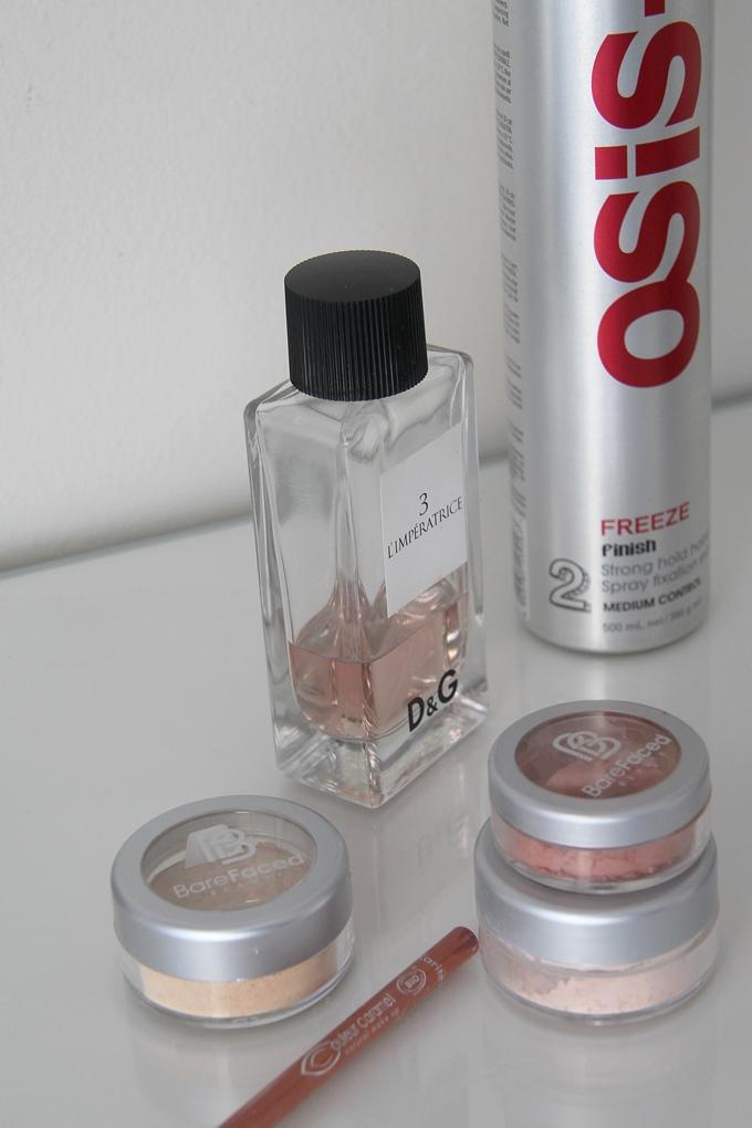barefaced beauty, mineraalimeikki, meikkipohja, viimeistelypuuteri, dg tuoksu, hajuvesi