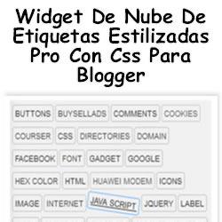Widget De Nube De Etiquetas Estilizadas Pro Con Css  Para Blogger