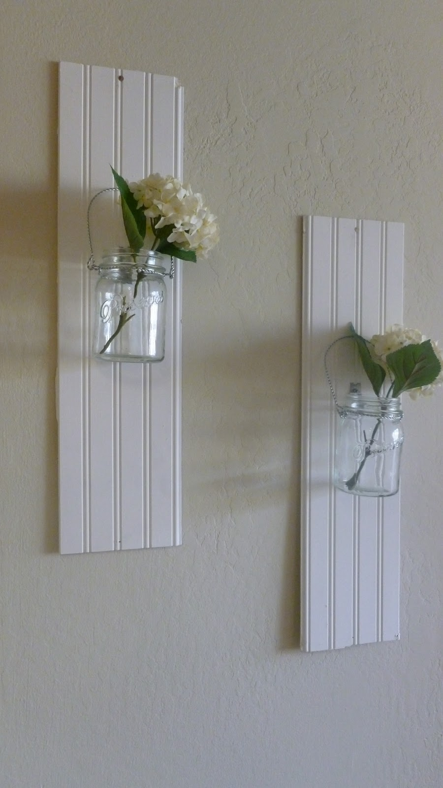 Wall Decor With Mason Jars : Burlap buttons mason jar wall decor
