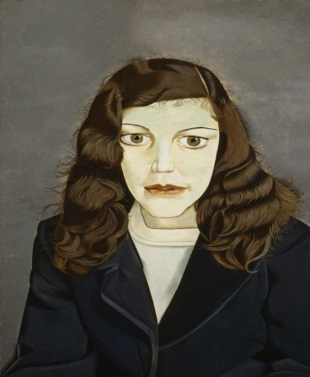 Lucian Freud - girl in a dark jacket,1947.