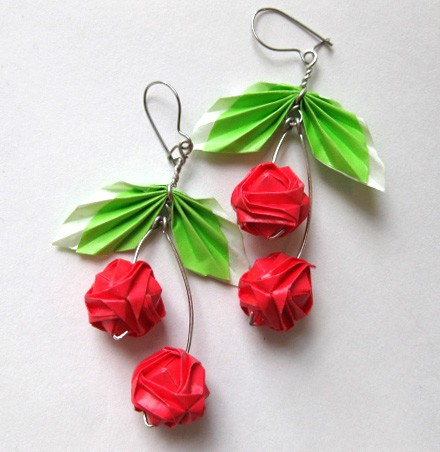 origami maniacs handmade origami earrings
