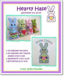 Hearty Hase ITH 13 x 18
