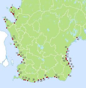 Fredningsområden för havsöring i Skåne