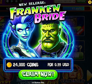 Franken Bride is a new slot game from House of Fun