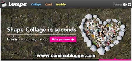 Crea divertidos collages online con Loupe