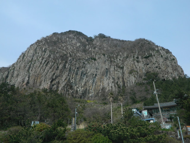 Sanbangsan mountain in jeju do, South korea