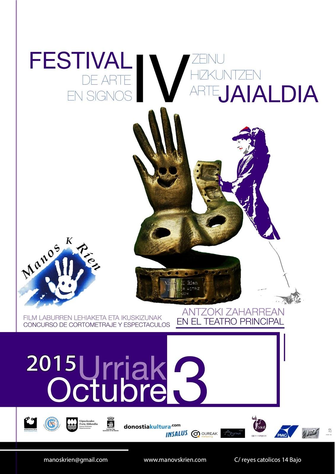 IV Festival de Arte en Signos - 3 de octubre, San Sebastián. Cartel%2B%2BFestival%2Bde%2Barte%2Ben%2Bsignos%252C