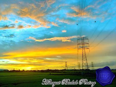 gambar matahari terbenam, sungai lokan, penang, golden time, photography, landscape,