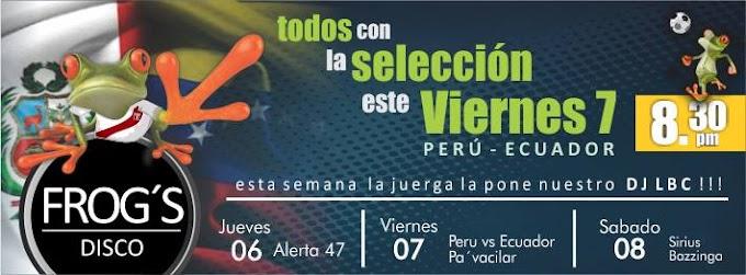 Peru vs Ecuador en la Frogs (7 junio)