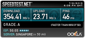 speedtest server singapore