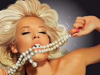 Beautiful Blonde Sensual Lips HD Wallpaper