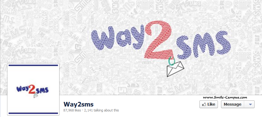 Facebook Fan Page of Way2sms.com